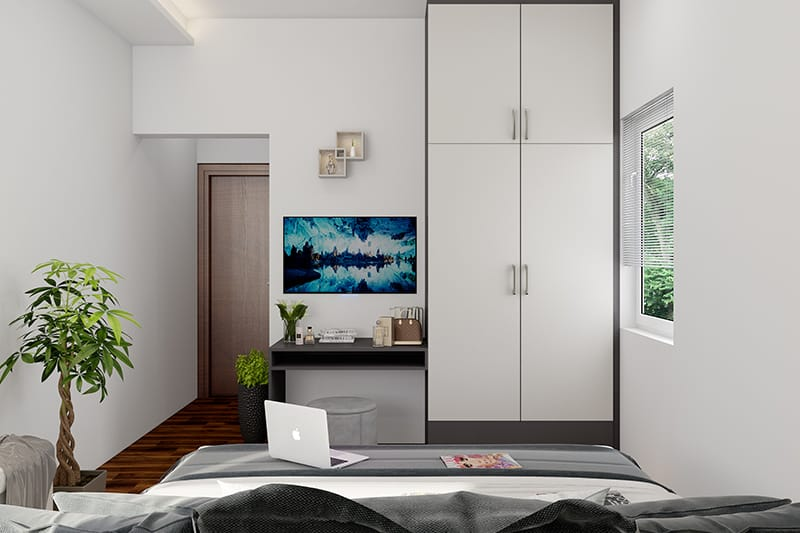 white modular cupboard design