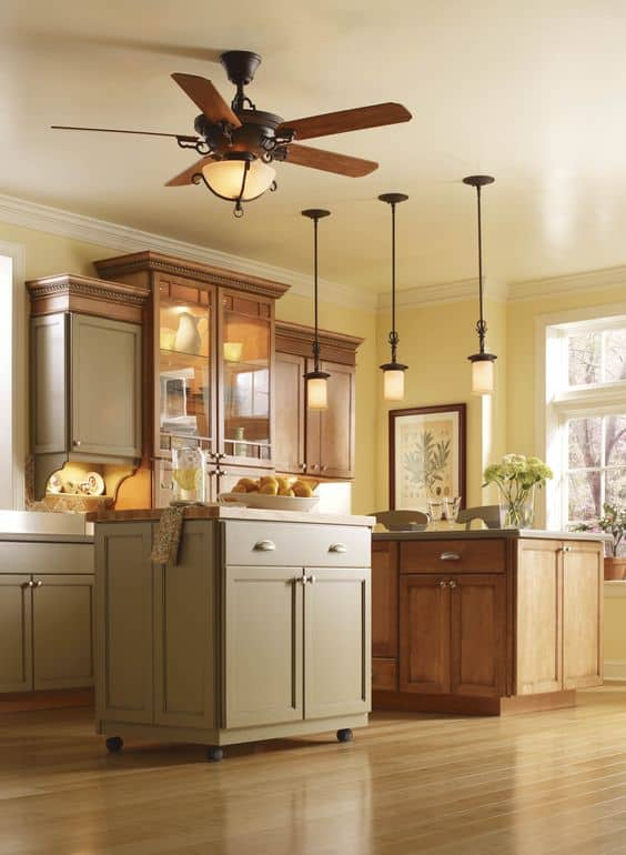 Stylish fan with lights for kitchen