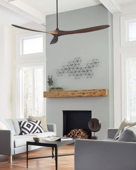 Sleek brown fan for living room