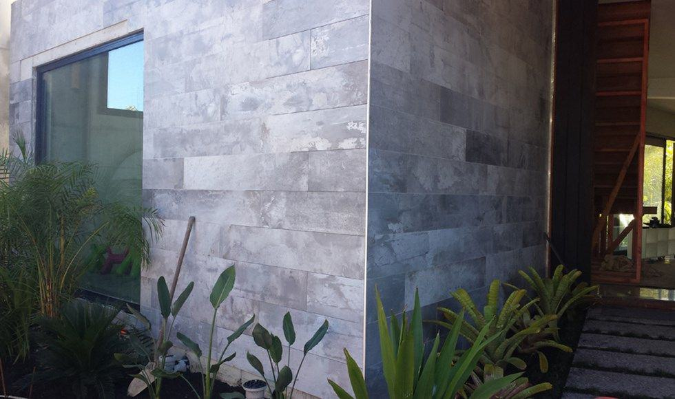 grey stone cladding for exteriors