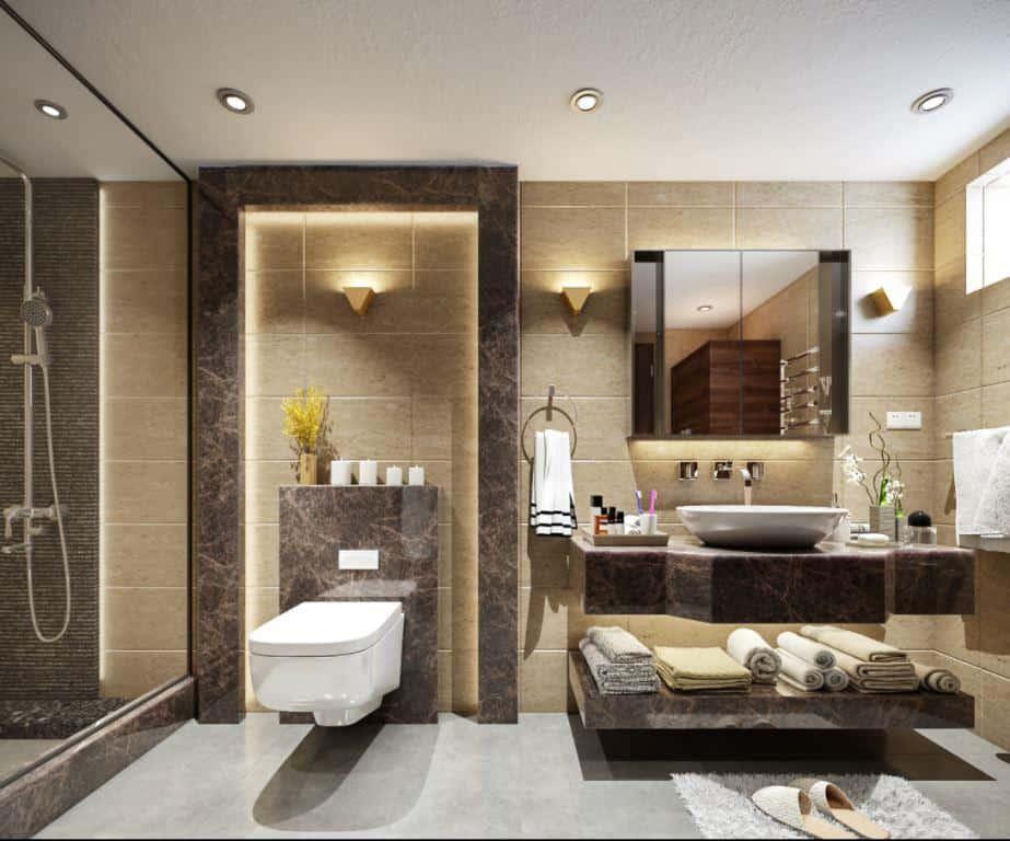 bathroom ceiling design for a small area