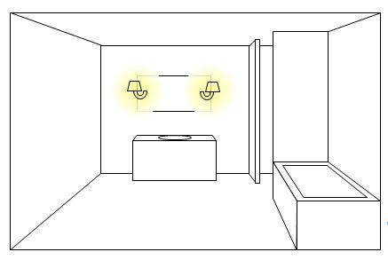 Another option is to light sconces onto the mirror itself