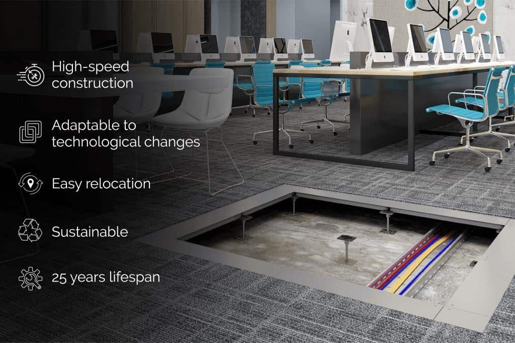 Unitile raised access flooring features and benefits