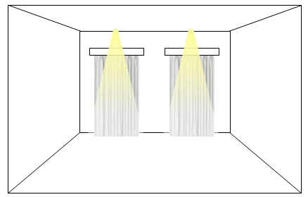 Feature lighting with spotlights