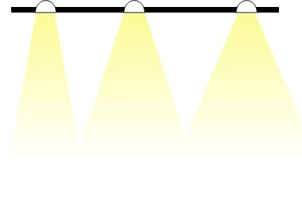 Recessed downlights with different beam width