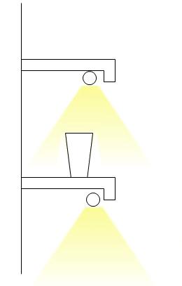 downward shelf lighting