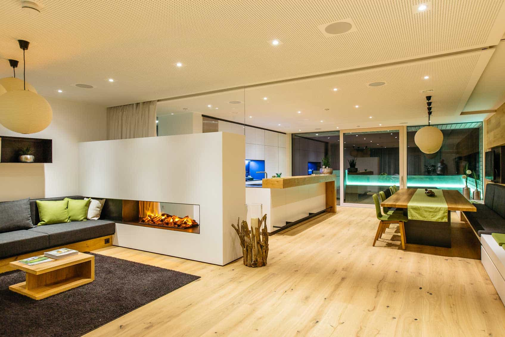 a well lit indoor space
