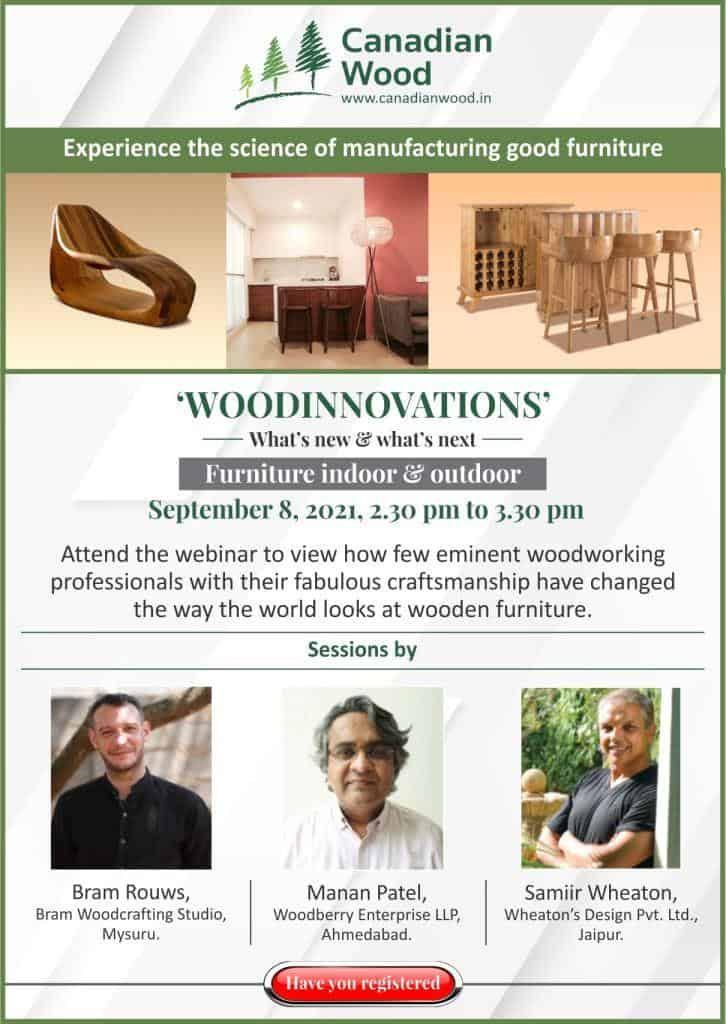 canadian wood webinar announcement on indoor and outdoor furniture