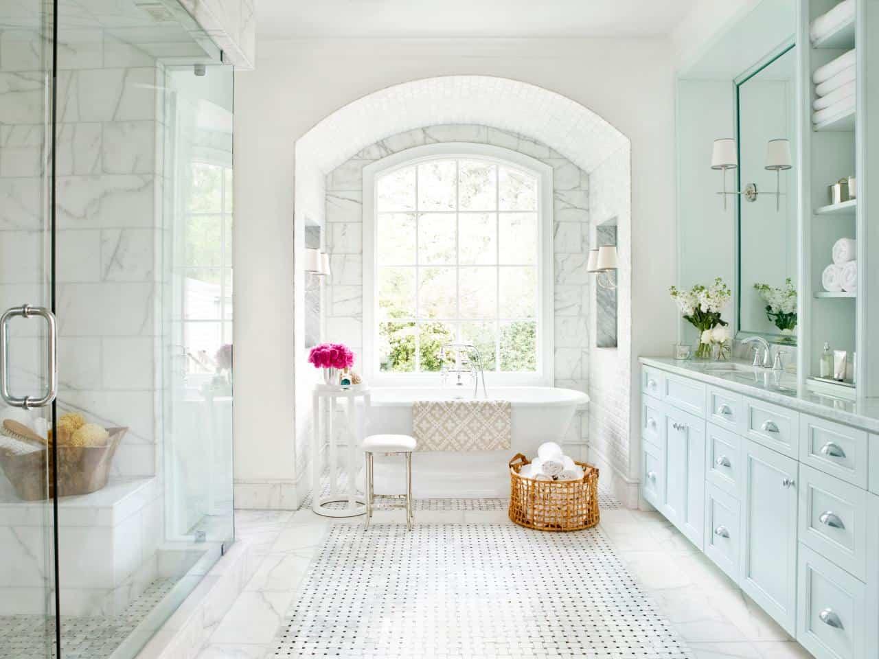 bathroom ceiling design and flooring concept
