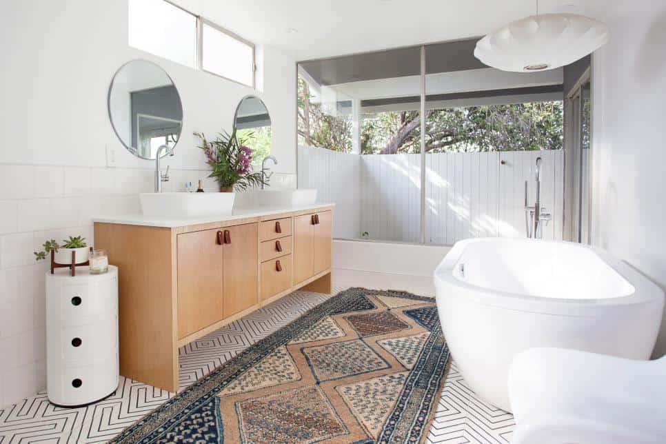 ceiling design for a modern bathroom