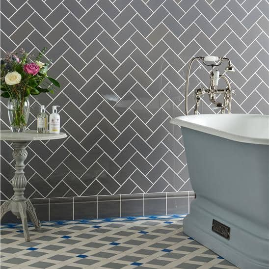 types of tiles skirting with grey skirtboard