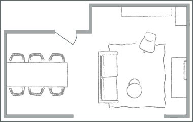home lighting plan sketch
