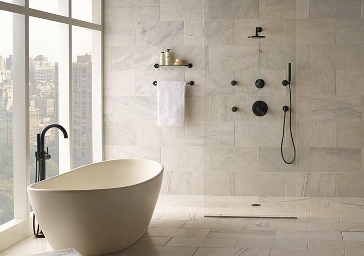 Modern Style Bathtub and Shower