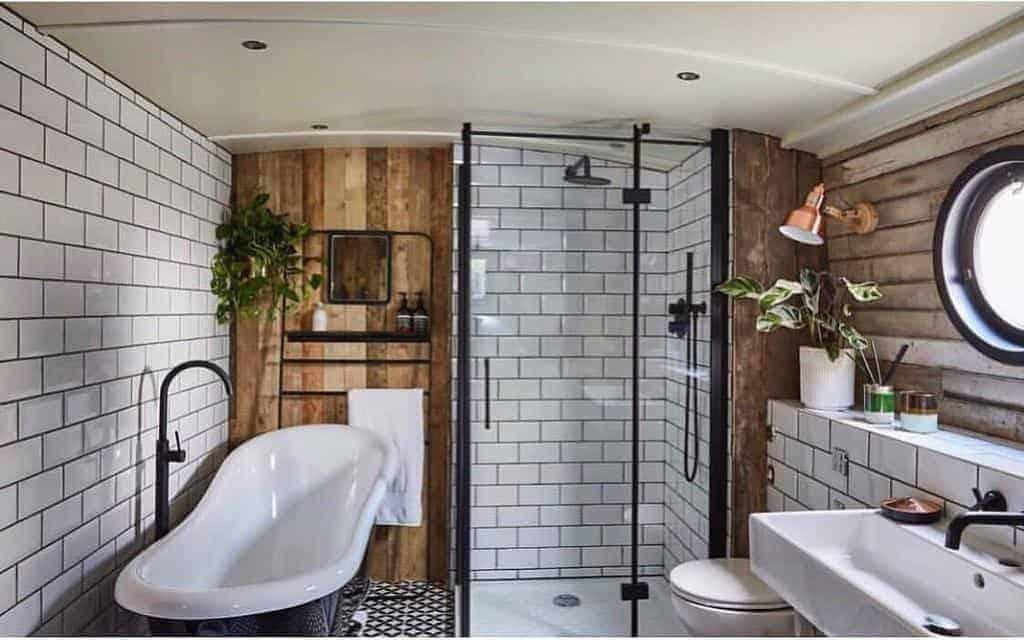 designer bathroom ceiling design with tile walls