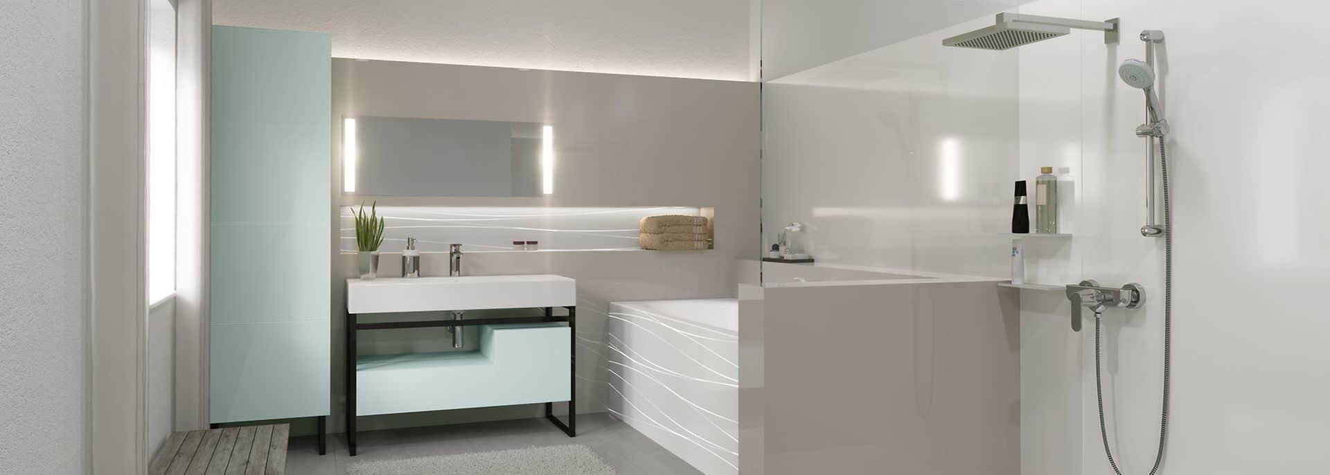 a beautiful bathroom in subtle neutral shades